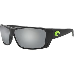 Cat Cay Blackout 580G Polarized Sunglasses - Men's Matte Black/Green Logo Frame/Gray Silver Mirror, One Size - Excellent