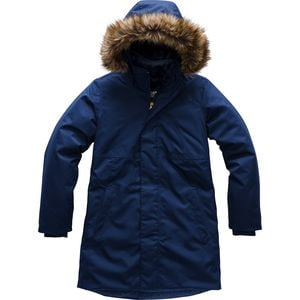 Arctic Swirl Hooded Down Jacket - Girls' Montague Blue,L - Good