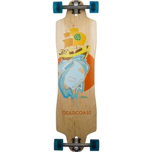 The Trade Winds Pintail Complete Longboard One Color, 36in Long X 9in Wide - Good