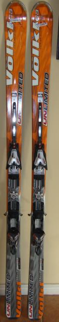 Volkl Unlimited AC3 Downhill Skis 177 cm. Marker AT  Bindings