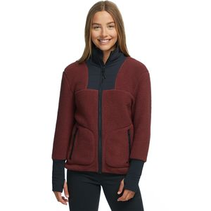 Sherpa Fleece Jacket - Women's Rum Raisin, S - Excellent
