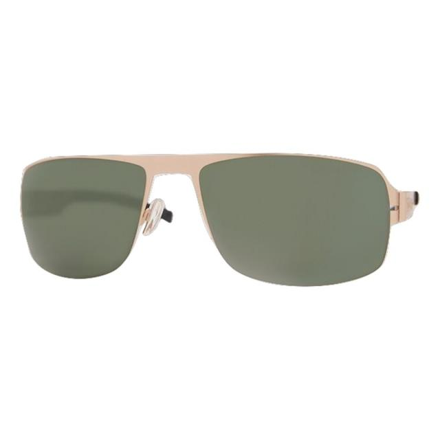 DCURVE Navigator Matte Satin Gold Stainless Steel Sunglasses