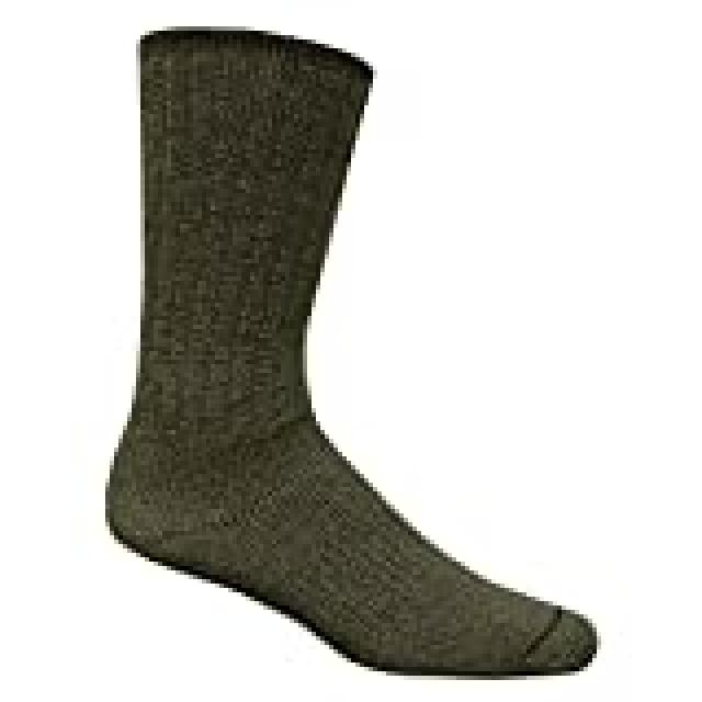 Merino Wool - Outdoor Socks - Large - Olive Green - New