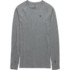Merino Blend Crew Baselayer Top - Men's Heather Grey, M - Excellent