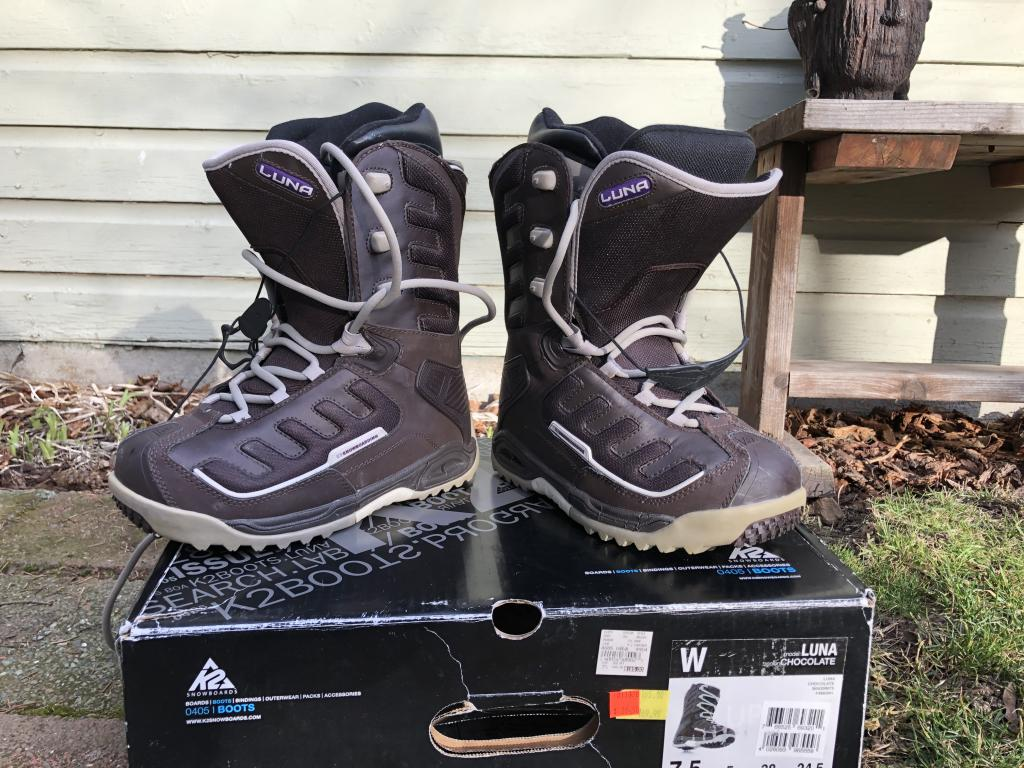 Womens K2 Luna Chocolate Boots Size 7.5