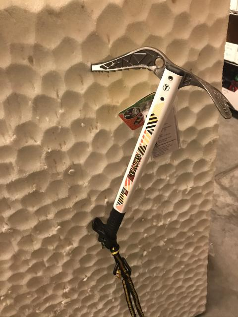 Grivel Jorasses Ice Axe (48cm) w/easy slider leash