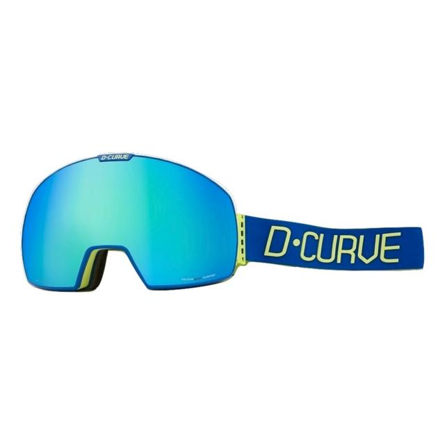 DCURVE Lhotse 145 Matte Blue with Lime Snow Goggles
