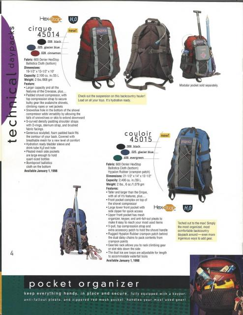Large daypack - JanSport Couloir 2400 cu. in./39L (1998)