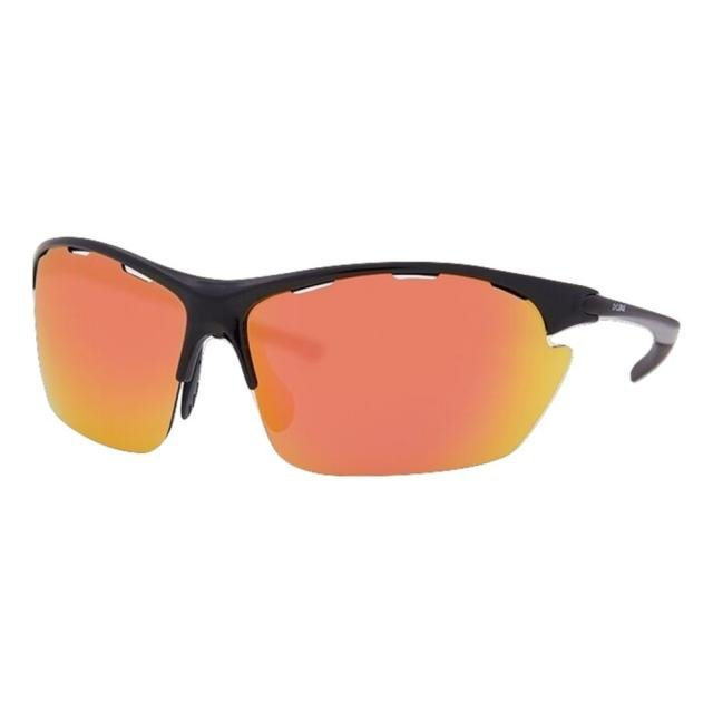 DCURVE Kokopelli Shiny Black with Smoke Red Lens Sunglasses