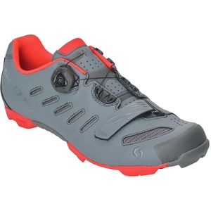 MTB Team BOA Cycling Shoe - Men's Cool Grey/Neon Orange, 42.0 - Excellent