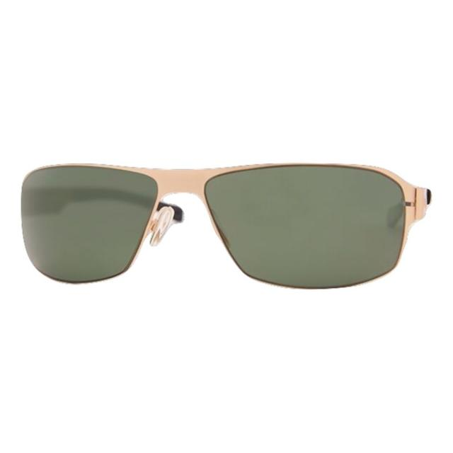 DCURVE Commander Matte Satin Gold Stainless Steel Sunglasses