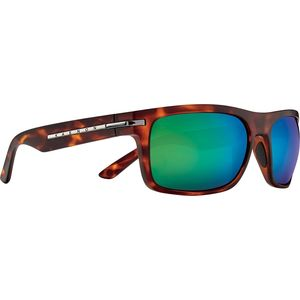 Burnet Mid Polarized Sunglasses Matte Tortoise/Coastal Green Mirror, One Size - Like New