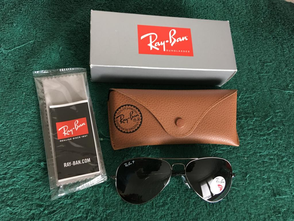 Ray-Ban Aviator Classic Polarized Sunglasses, size Standard 58