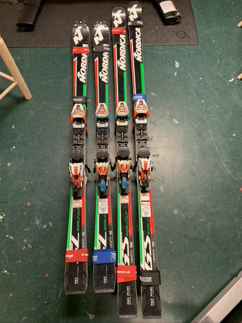 4 Pairs of 2018 FIS Race Skis in Excellent Condition!