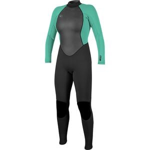 Reactor II 3/2 Back-Zip Full Wetsuit - Women's Black/Light Aqua, 6 - Excellent