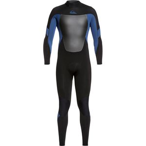 3/2 Syncro Back Zip GBS Wetsuit - Men's Black Black/Iodine Blue Iodine, L - Good