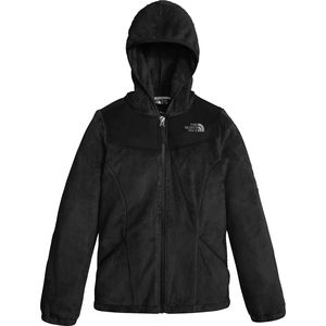Oso Hooded Fleece Jacket - Girls' Tnf Black, M - Excellent