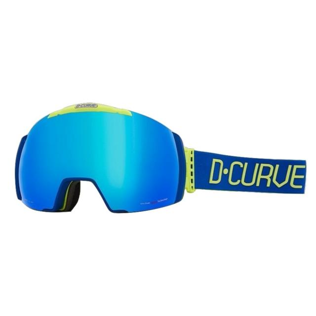 DCURVE Nuptse133 Matte Blue with Lime Snow Goggles
