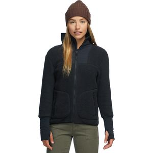 Sherpa Fleece Jacket - Women's Black, L - Good