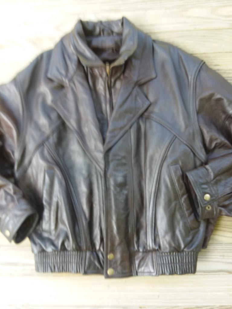 Leather Bomber Jacket, Men's Medium, Thinsulate zip-out liner