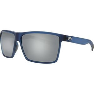 Rincon 580G Polarized Sunglasses Matte Atlantic Blue Frame/Gray Silver Mirror, One Size - Excellent