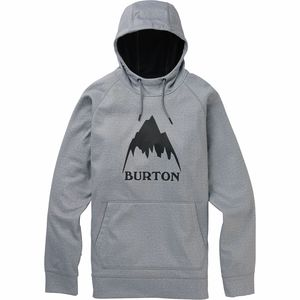 Crown Bonded Pullover Hoodie - Men's Gray Heather, L - Excellent