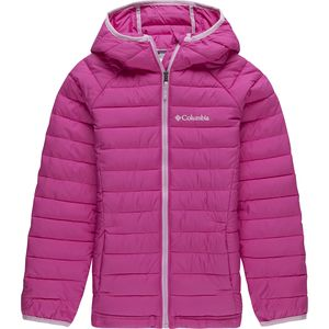 Powder Lite Hooded Insulated Jacket - Girls' Pink Ice, S - Excellent