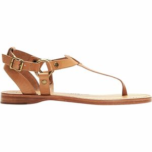Rachel Ring T-Strap Sandal Camel, 9.5 - Good