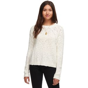 Shoulder Cable Sweater - Women's White, M - Excellent