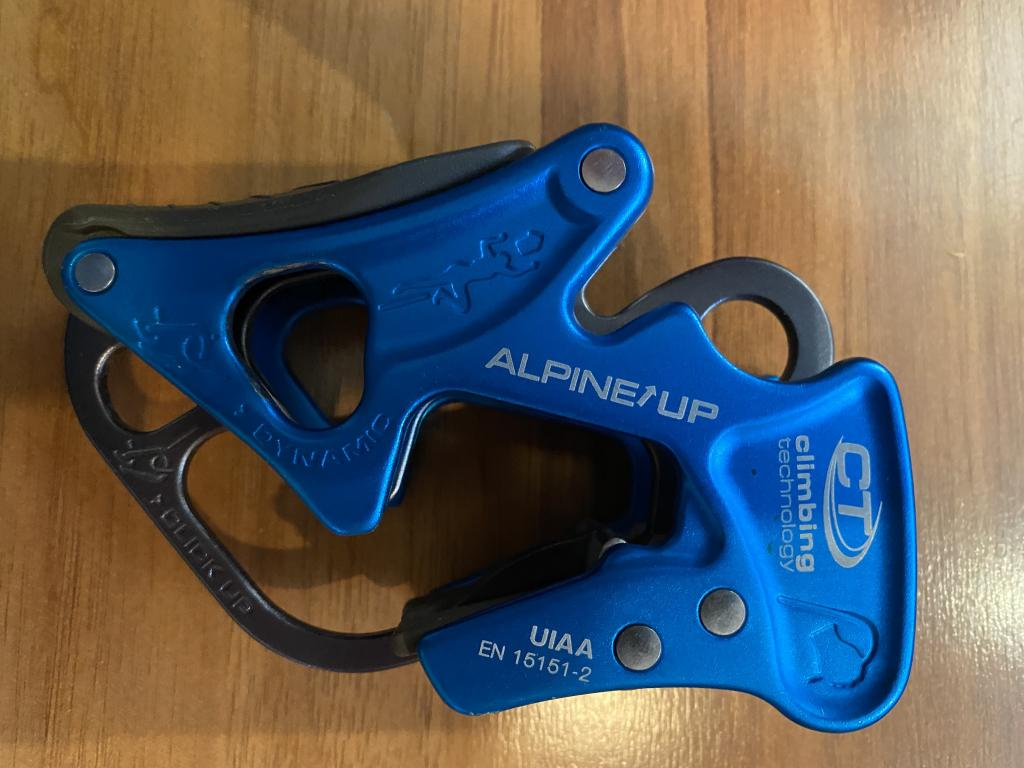 Climbing Technology Alpine-up Belay Device Light and simple!