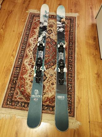 2018 Icelantic Nomad 115 / Salomon MNC bindings