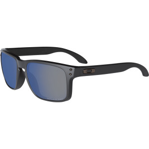 Holbrook Polarized Sunglasses Matte Black/Ice Iridium, One Size - Good