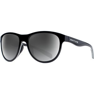 Acadia Polarized Sunglasses Gloss Black/White/Gloss Black-Gray, One Size - Fair