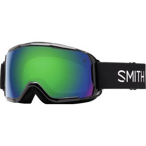 Grom ChromaPop Goggles - Kids' Black/Green Sol-x Mir/No Extra Lens, One Size - Fair