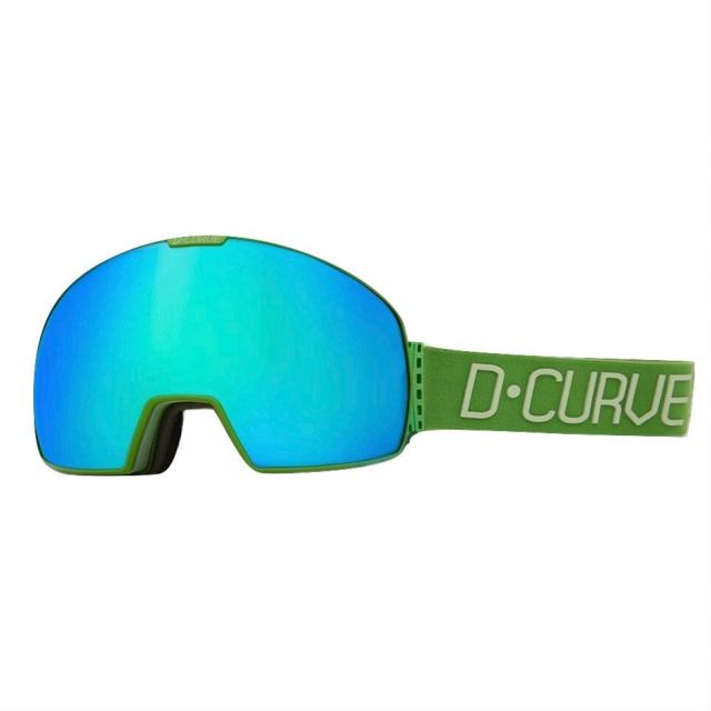 DCURVE Lhotse 145 Matte Green with Lime Snow Goggles