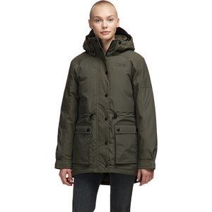 Reign On Down Parka - Women's New Taupe Green,M - Good