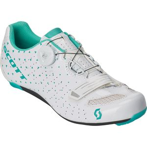 Road Comp BOA Lady Cycling Shoe - Women's Gloss White/Turquoise Blue, 38.0 - Excellent