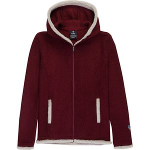 Apres Hooded Fleece Jacket - Girls' Syrah, XL - Excellent