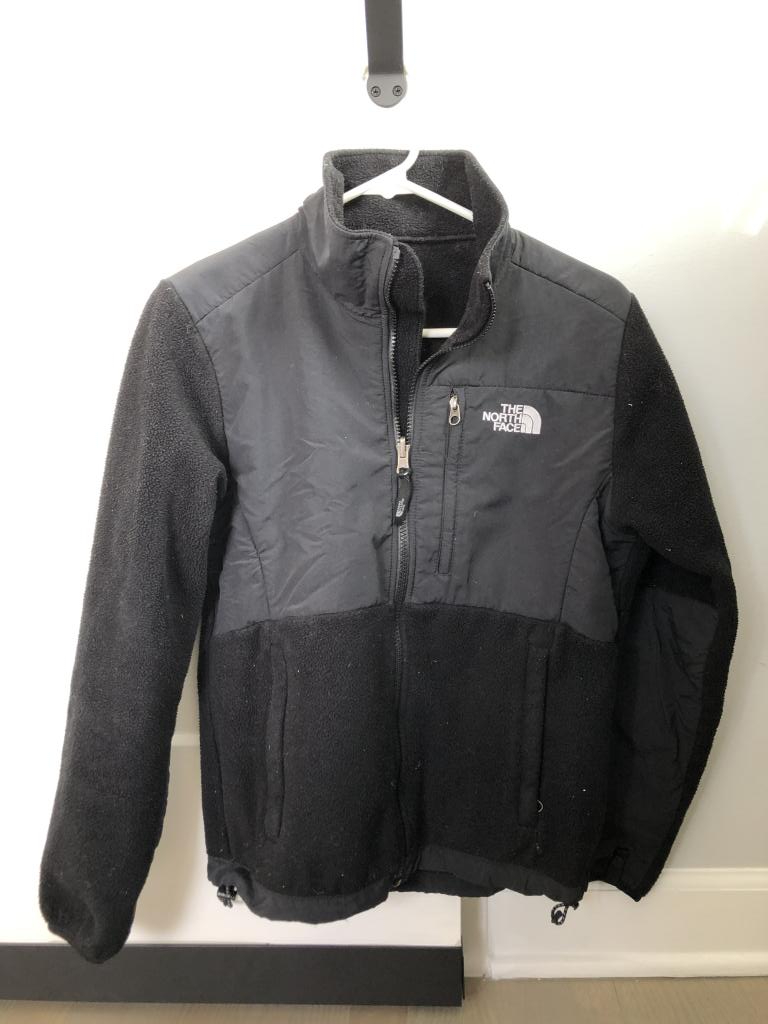 Womens small North Face Denali Fleece, black