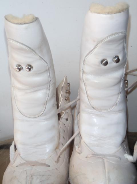 Klingbeil ladies white Figure Ice Skating Boots Sz 5.5