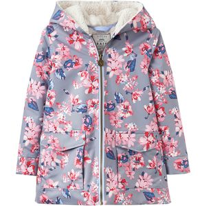 Raindrop Jacket - Girls' Soft Grey Mid Floral, 9/10 - Excellent