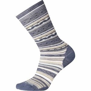 Ethno Graphic Crew Sock - Women's Dark Blue Steel, S - Like New