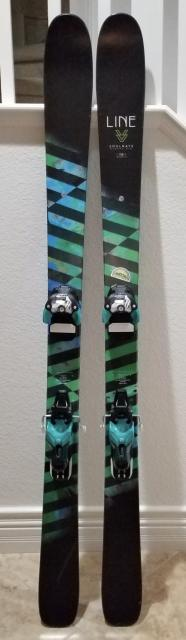 LINE SOULMATE 86 LADIES SKIS 158cm w/SALOMON BINDINGS