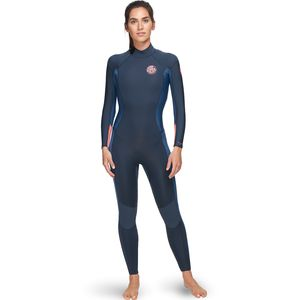 Dawn Patrol 3/2 Back-Zip Full Wetsuit - Women's Stealth, 10/Tall - Good