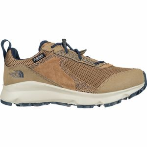 Hedgehog Hiker II Waterproof Shoe - Boys' Utility Brown/Cosmic Blue, 5.0 - Good
