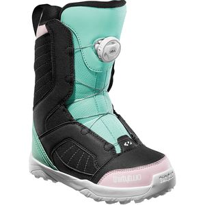 Boa Snowboard Boot - Kids' Black/Pink/Green, 5.0 - Excellent