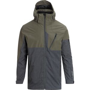 Swift System Jacket - Men's Olive/Heather Charcoal,XL - Excellent
