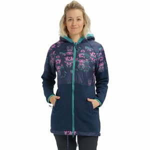 Khalsa Hybrid Full-Zip Fleece Jacket - Women's Dress Blue Stylus/Dress Blue, M - Good