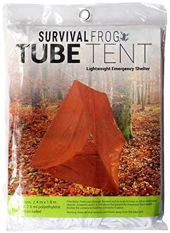 Ready Shelter Tube Tent with cord by Survival Frog