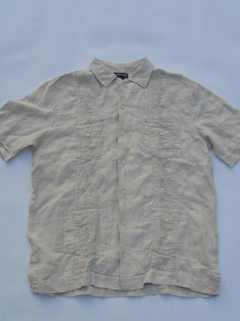 LAND'S END  Hawaiian SHIRT 100% LINEN Size Medium